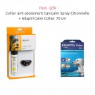 Pack -10% : Collier anti aboiement Canicalm Spray Citronnelle + Adaptil Calm Collier 62,5 cm
