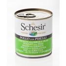 Schesir Poulet avec Pois en gelée pour chien 16 x 285 g