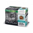 Purina Proplan Cat Nutrisavour Sterilised Poisson 10 pochons 85 grs - La Compagnie des Animaux