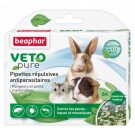 Beaphar VETOpure 6 Pipettes répulsives antiparasitaires rongeurs