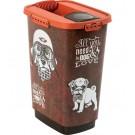 Rotho Mypet Pet Food Container VINTAGE chien 50l - La Compagnie des Animaux