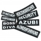 2 Stickers Velcro Julius K9 taille L GIRLPOWER