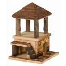 La Maison Sten en bois flammé de chez Trixie est une Maison pour rongeurs
