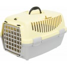 Trixie Box de transport Capri gris clair / jaune - La Compagnie des Animaux