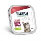 Yarrah Bio Bouchées de poulet et boeuf en sauce au persil et au thym pour chat 16 x 100 grs