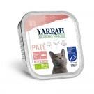 Yarrah Bio Pâté de saumon aux algues marine pour chat 16 x 100 grs- La Compagnie des Animaux