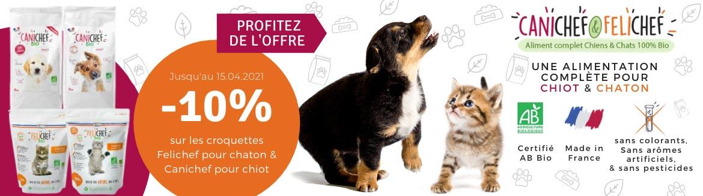 Profitez de nos offres sur les produits Felichef et Canichef pour chiot et chaton